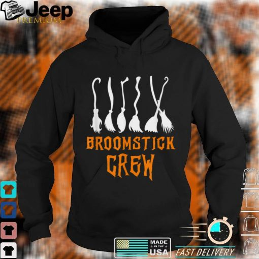 Broomstick Crew Funny Witch Broom Simple Halloween Costume T Shirt