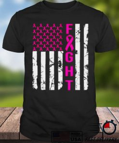 In October we wear pink ribbon breast cancer awareness month T Shirt