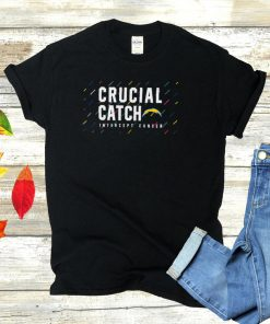 Los Angeles Chargers 2021 crucial catch intercept cancer shirt