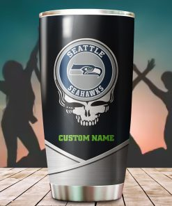 Seattle Seahawks Fan Facts Super Bowl Champions American NFL Football Team Logo Grateful Dead Skull Custom Name Personalized Tumbler Cup For Fan