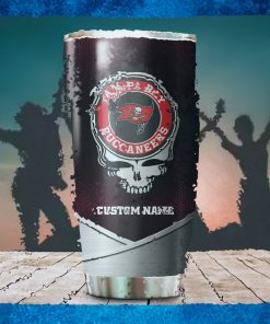 Tampa Bay Buccaneers Fan Facts Super Bowl Champions American NFL Football Team Logo Grateful Dead Skull Custom Name Personalized Tumbler Cup For Fan