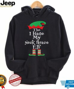 The I Hate My Neck Brace Elf Christmas Group Matching Family T Shirt