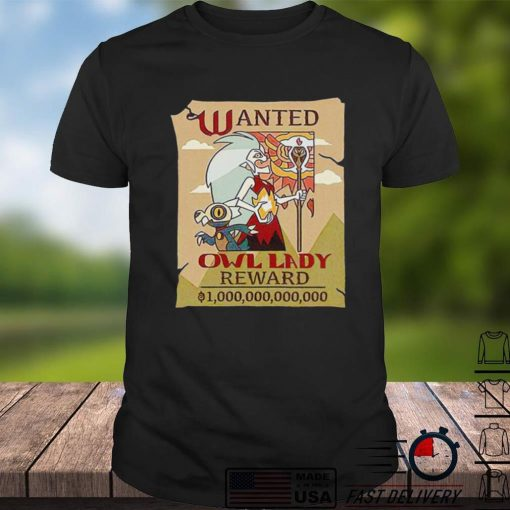 The Owl House Wanted Owl Lady shirt