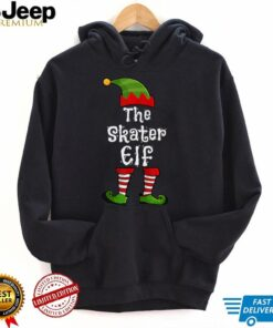 The Skater Elf Matching Family Group Christmas Funny T Shirt