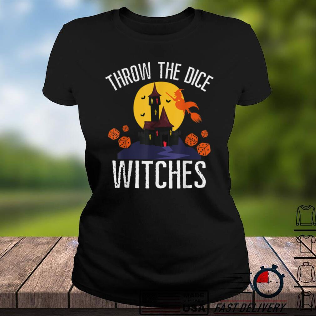 Throw the Dice Witches Halloween Bunco Prize T Shirt