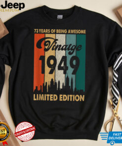 Vintage 1949 73rd Birthday Retro 73 Years Of Being Awesome T Shirt