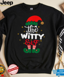 Witty Elf Matching Family Group Christmas Party Pajama T Shirt 1