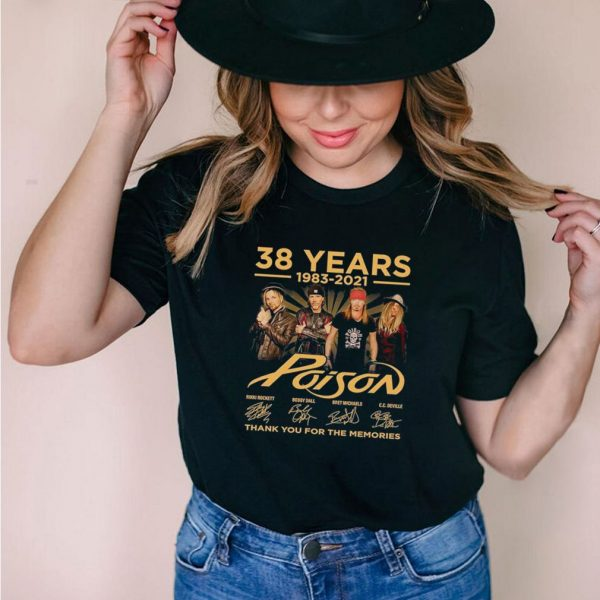 38 years 1983 2021 poison thank you for the memories shirt