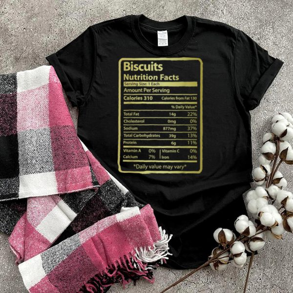 Biscuits Nutrition Facts for Thanksgiving Christmas shirt