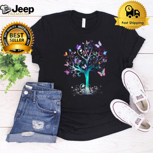 Colorful Butterfly Tree Awesome Animal Insect Butt shirt