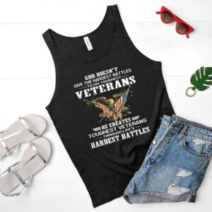 God doesnt give the hardest battles to his toughest veterans eagle quote shirt 3 1