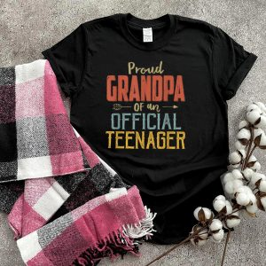 Proud Grandpa Of Official Teenager 13Th Birthday 13 Yrs Old T Shirt
