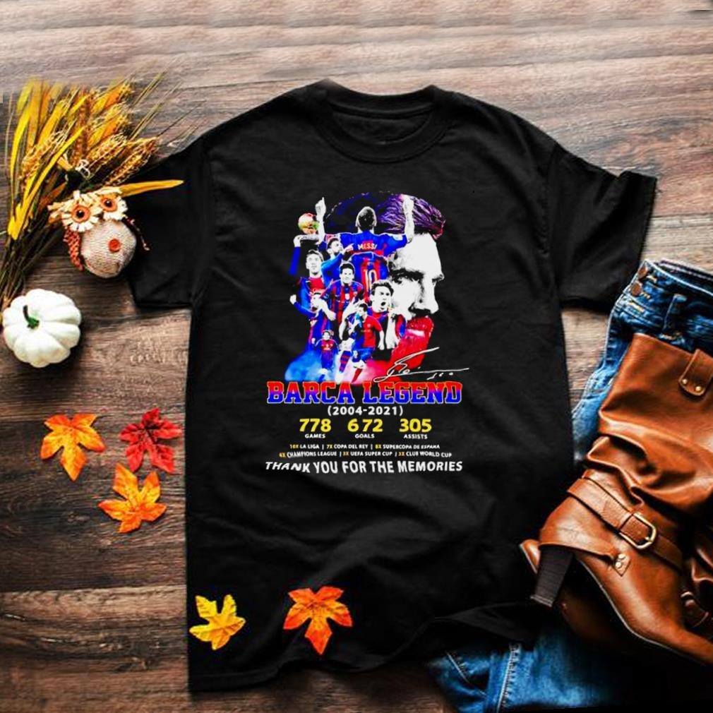 Barca legend 2004 2021 Messi thank you for the memories shirt