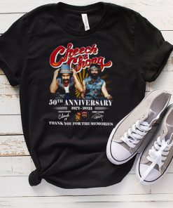 Cheech and chong 50th anniversary 1971 2021 thank you for the memories shirt