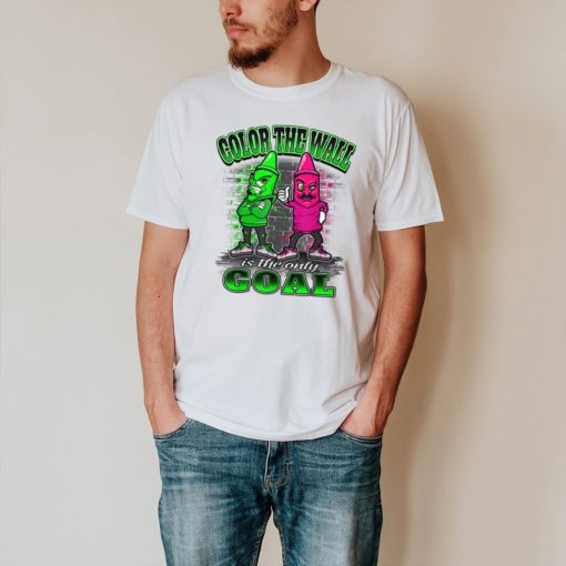 Color The Wall Is The Only Goal Kids Coloring T Shirt
