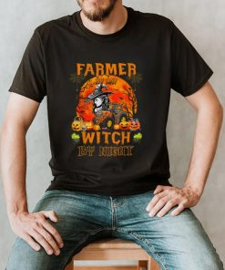 Tractor Halloween Farmer By Day Witch By Night Farmer Girls T Shirt
