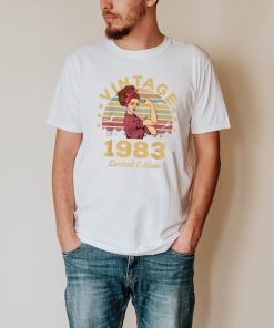 Vintage 1983 Made In 1983 38th Birthday Women 38 Years T Shirt