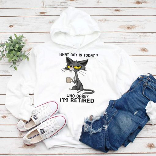 What Day Is Today Who Cares I'm Retired Funny Cat Tank Top